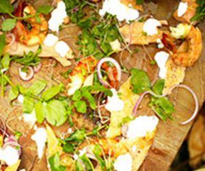 Petisco para churrasco com salmão defumado e camarão