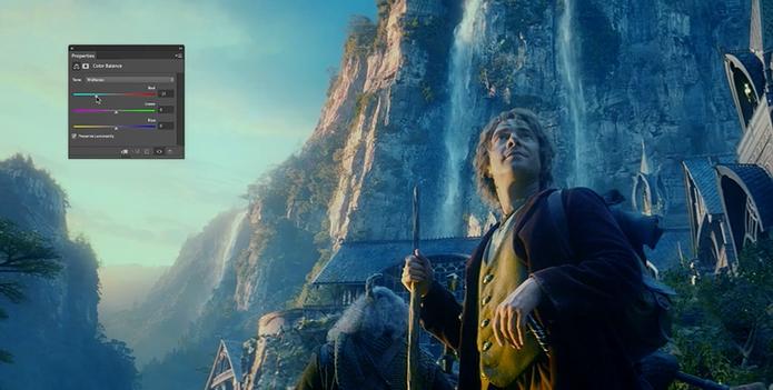 Imagem do filme O Hobbit com o uso da edição do Photoshop em vídeo comemorativo (Foto: Divulgação/Adobe)