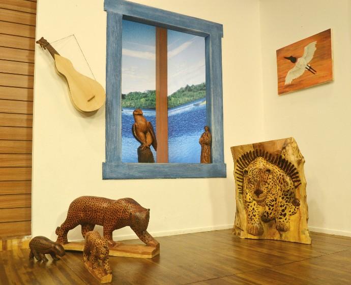 Obras de Rosalino Aluizio (Foto: Luana Daubian/TVCA)