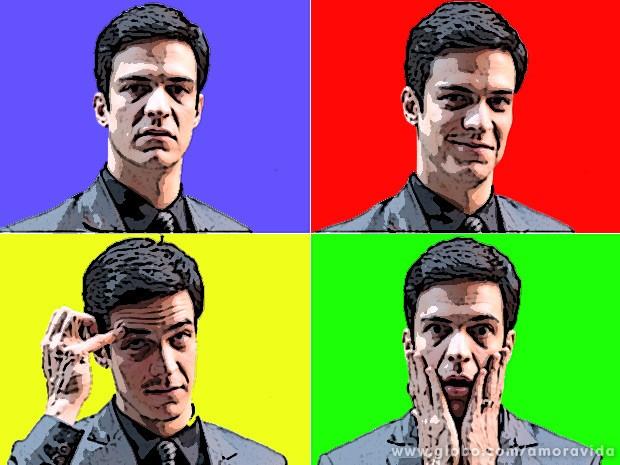 As várias facetas do vilão: sério, gay, cacoete e chocado (Foto: Amor à Vida / TV Globo)