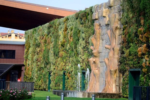 Jardim tem 1.262,85 metros quadrados e conta com 44 mil plantas e 200 flores. (Foto: Olivier Morin/AFP)