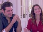 Thiago Lacerda e Nathalia Dill recebem Poliana Abritta para um chá da tarde