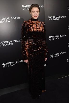Greta Gerwig em evento em Nova York, nos Estados Unidos (Foto: Jamie McCarthy/ Getty Images/ AFP)