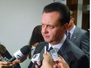 O ministro das Cidades, Gilberto Kassab, minimiza mal-estar político com o PMDB (Foto: Rafaela Brito / G1)