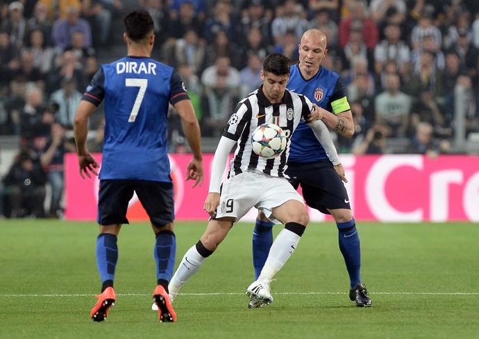 Morata Juventus Monaco Liga dos Campeões (Foto: Massimo Pinca / AP)
