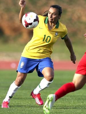 Marta, Brasil X China (Foto: Agência EFE)