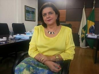 A secretária de Saúde do Distrito Federal, Marília Cunha (Foto: Raquel Morais/G1)