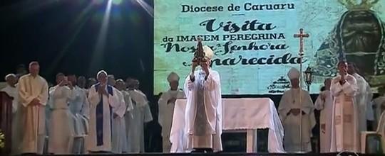 Católicos participaram de celebração no Pátio  (Reprodução/TV Asa Branca)