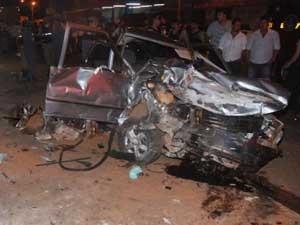 Um dos carros envolvidos no acidente (Foto: Aislan Henrique/Patos1)