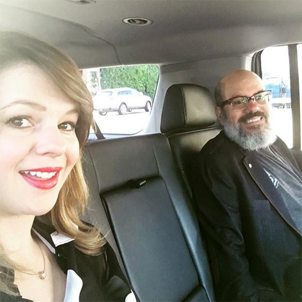 Amber Tamblyn e David Cross (Foto: Instagram)