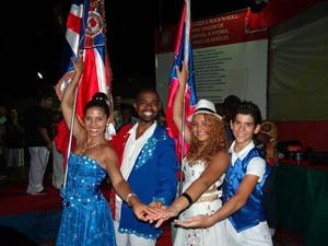 Casal de mestre-sala e porta-bandeira da Escola Pega no Samba (Foto: Rodrigo Rosa/ Divulgação)