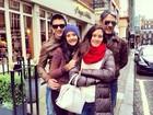 Fátima Bernardes posta das férias com a família em Londres