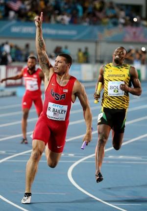 Ryan Bailey, Usain Bolt Mundial de revezamento (Foto: Streeter Lecka Getty Images Sport)