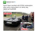 Nasri aparece em treino com Lamborghini apreendida pela polícia na última semana