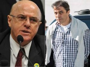 Othon da Silva  e Flávio David Barra estão presos na carceragem da PF, em Curitiba  (Foto: Antonio Cruz/ABr e Cassiano Rosário/Futura Press/Estadão Conteúdo)