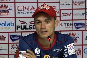 Moisés, atacante do Vila Nova (Foto: Reprodução / TV Anhanguera)