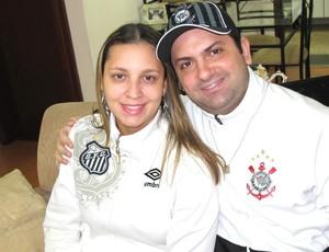 Eduardo e Adriana: sem comentários em dia de jogo (Foto: Lincoln Chaves / Globoesporte.com)