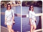 Fernanda Pontes mostra barriguinha e look: 'Meu estilo grávida de ser'