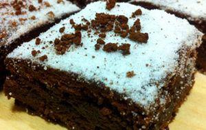 Brownie de café e chocolate meio amargo
