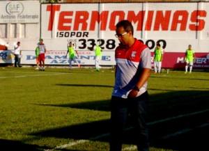 Ricardo Leão, técnico do Guarani-MG (Foto: TV Integração/Reprodução)
