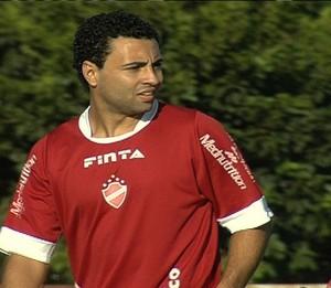 Bruno Veiga - atacante Vila Nova (Foto: Reprodução / TV Anhanguera)