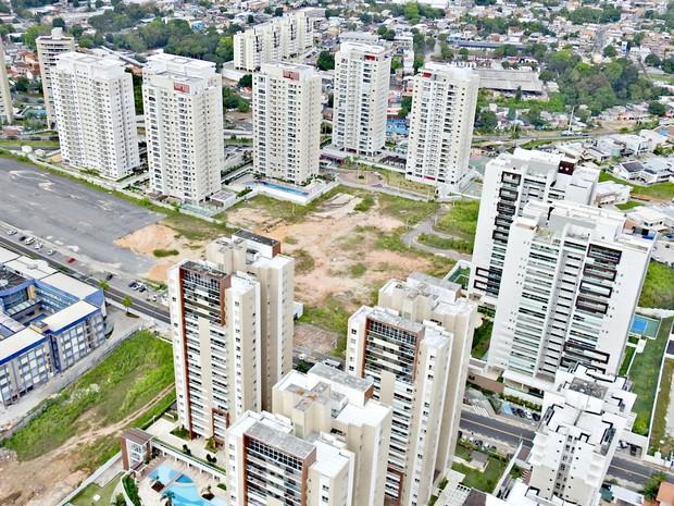 Mercado imobiliário de Manaus  (Foto: Adneison Severiano/G1 AM)