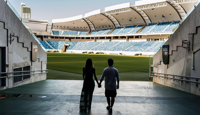 bruno e dayane, casal champions league (Foto: Arquivo Pessoal)