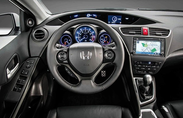 Novo honda civic hatch europeu revelado auto esporte not cias for 2014 honda accord interior lights