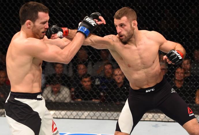 Tarec Saffiedine e Jake Ellenberger, UFC: Johnson x Bader (Foto: Getty Images)