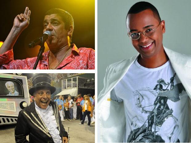 Santo é um dos mais queridos por cariocas e artistas (Foto: Flávio Moraes/G1, Alberto Vilar/Divulgação, Alexandre Durão/G1)