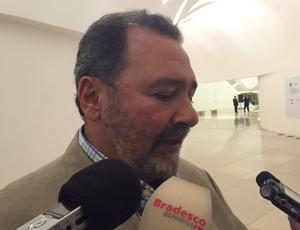 Fred Luz, diretor geral do Flamengo, concede entrevista em festa da Primeira Liga (Foto: Raphael Zarko/GloboEsporte.com)