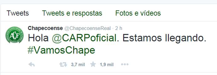 Chapecoense Twitter (Foto: Reprodução)