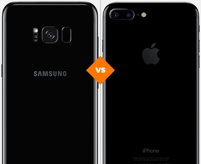 Galaxy S8 Plus ou iPhone 7 Plus: veja qual celular se sai melhor em comparativo (Foto: Arte/TechTudo)