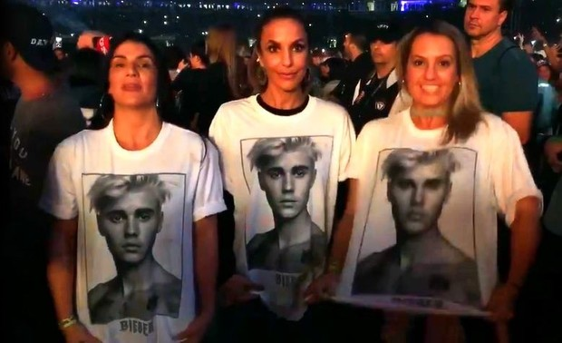 Ivete Sangalo curte show do Justin Bieber em São Paulo (Foto: Reprodução / Instagram Stories)