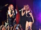 Wanessa canta ao lado de Luiza Possi durante show em São Paulo