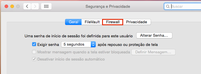 Acessando a aba Firewall (Foto: Reprodução/Edivaldo Brito)