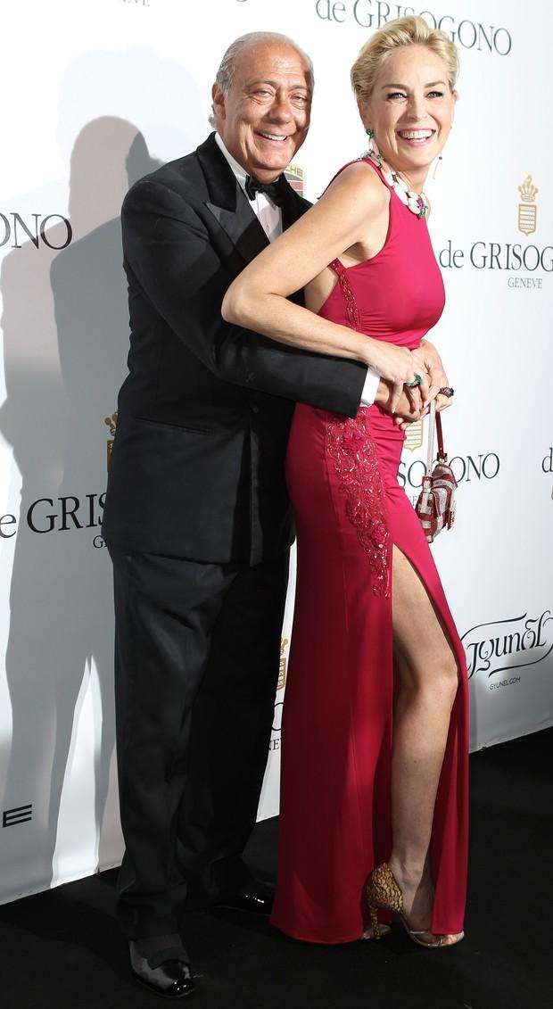 Sharon Stone e Fawaz Gruosi (Foto: AFP / Agência)