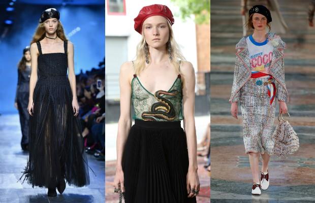 Boinas surgiram nas passarelas de Dior, Gucci e (Foto: Getty Images)