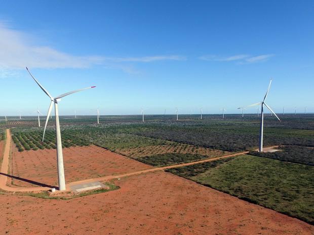 Parte dos investimentos nos parques eólicos são revertidos para comunidades em Serra do Mel e Areia Branca (Foto: Divulgação/ Voltalia)