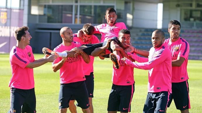 Neymar, Treino do Barcelona (Foto: Miguel Ruiz / FCB)