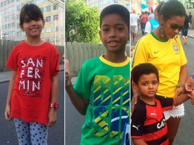 Crianças marcam presença em partriuda de futebol pelos Jogos Olímpicos (Foto: Maiana Belo/G1 Bahia)