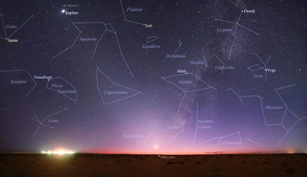Constelações no céu (Foto: Reprodução / Twitter (@NASA))