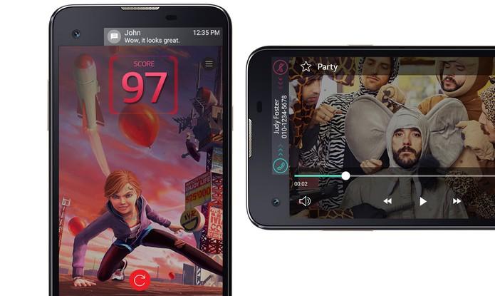 LG X Screen tem duas telas frontais, com um display especial para notificações (Foto: Divulgação/LG)