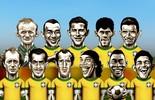 Nos 100 anos da Seleção,  escale o seu time dos sonhos (Editoria de arte)