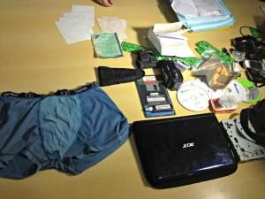 Cueca ajudou a identificar suspeito segundo a polícia (Foto: Ivanete Damasceno/G1)