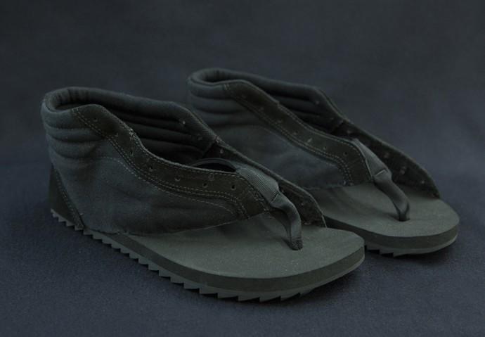 Calçados de Miguel são feitos a partir de peças usadas (Foto: Felipe Monteiro/ Gshow)