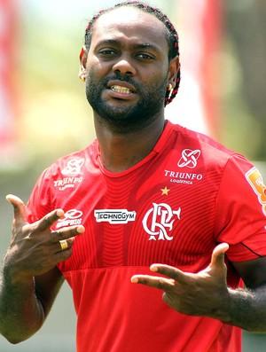 Vagner Love, treino do Flamengo (Foto: Mauricio Val / Vipcomm)