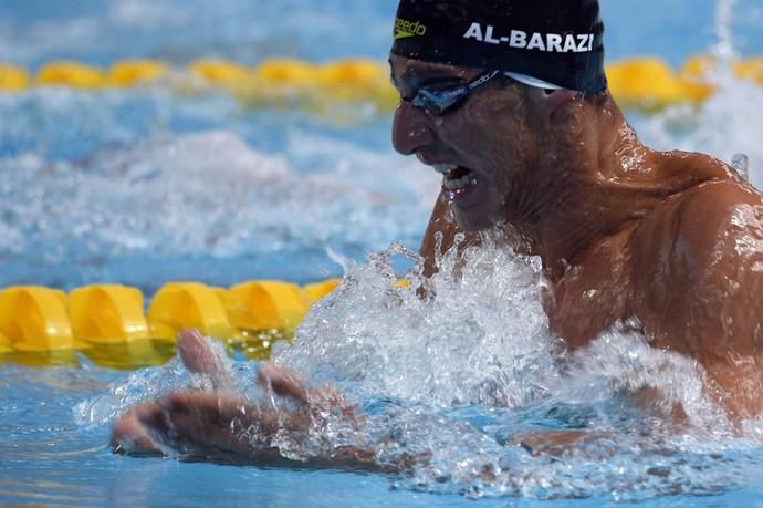 O nadador Azad Albarazi também está garantido no Rio 2016 (Foto: Getty Images)