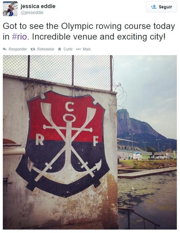 Remo britânica Flamengo (Foto: Reprodução Twitter)