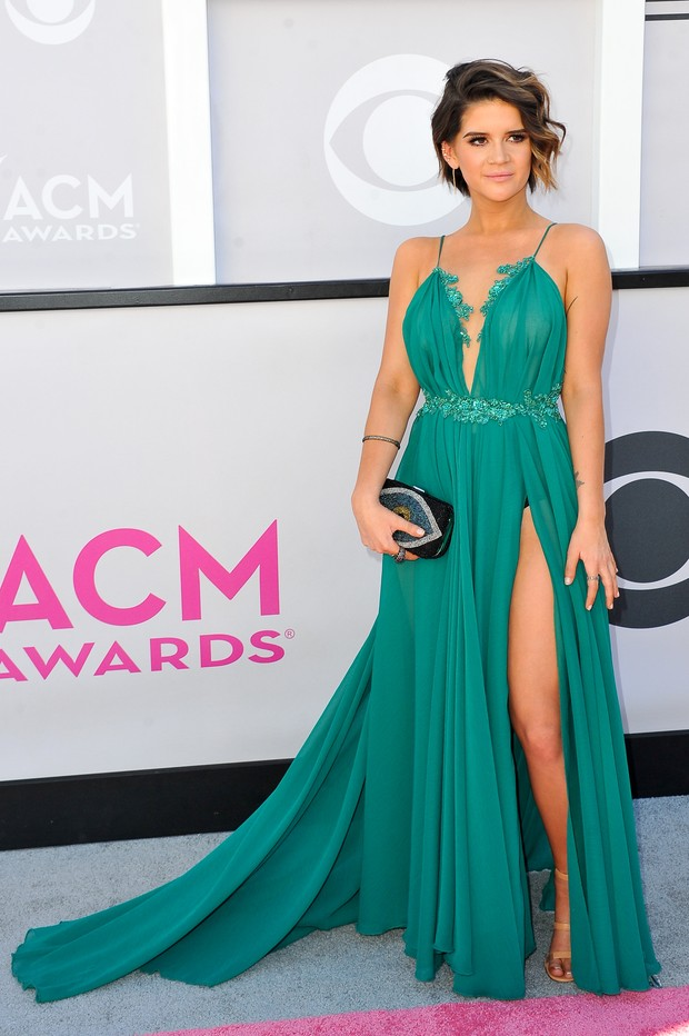 Maren Morris no American Country Music Awards (Foto: Getty Images)